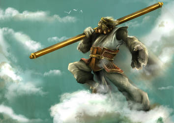 To the Sky! - Sun Wukong by Marianto