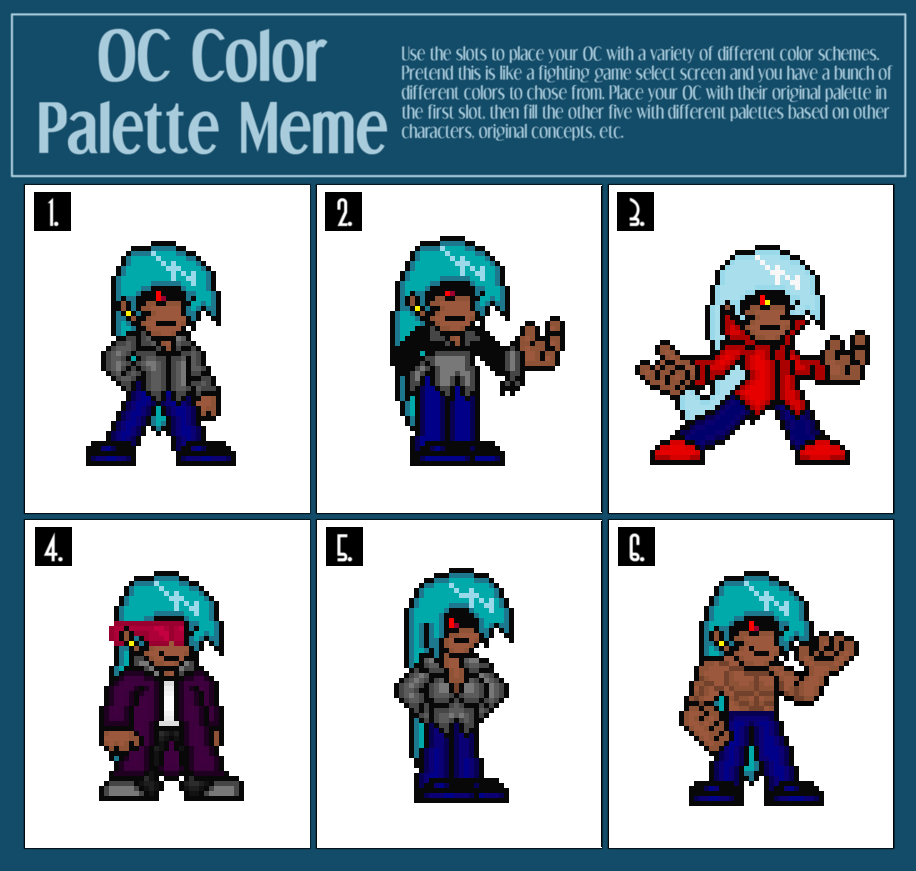 OC palette meme by MarratoKensuto