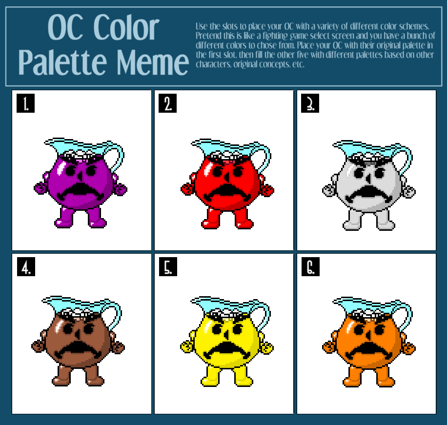 OC palette meme 2 by MarratoKensuto