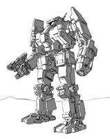 Charger Battlemech by shortpainter
