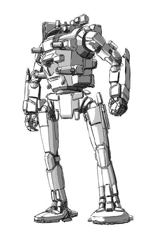 Ostroc Battlemech by shortpainter