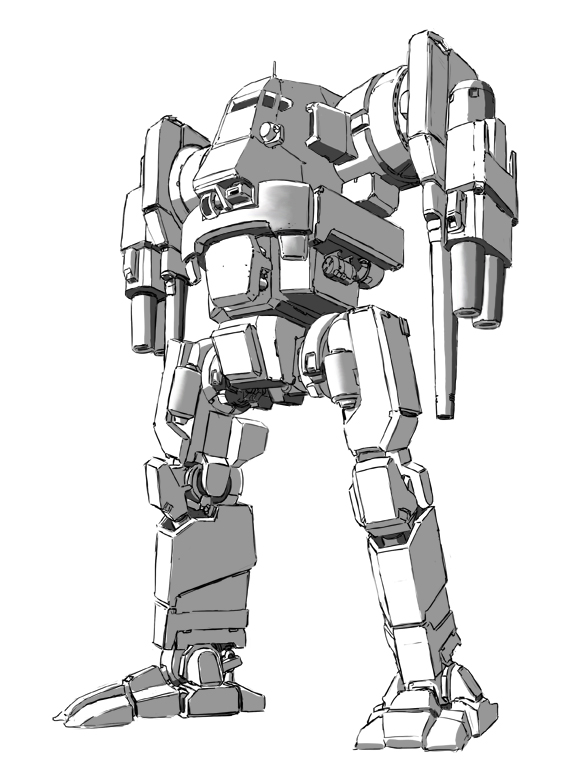 Blackjack Battlemech by shortpainter