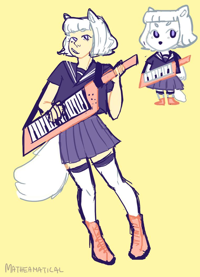 furry musician by Matheamatical