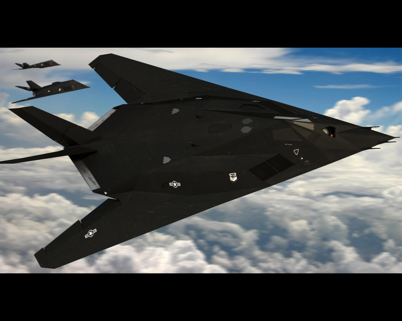 F 117 Nighthawk At Night F-117 Nighthawk Fly by...