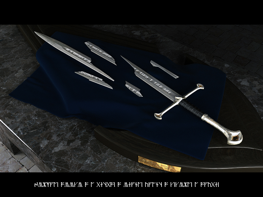 United lotr images uc1380aslb anduril jpg - Anduril Edition Limited Sword