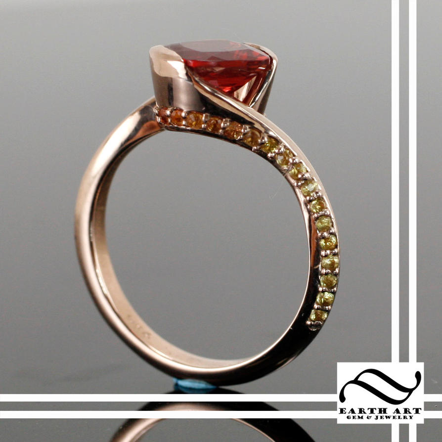 sunburst sun engagement natural a ring sunstone products rings diamond of kind gold stone one rose