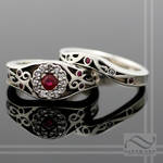 Ruby and Diamond in 14k
