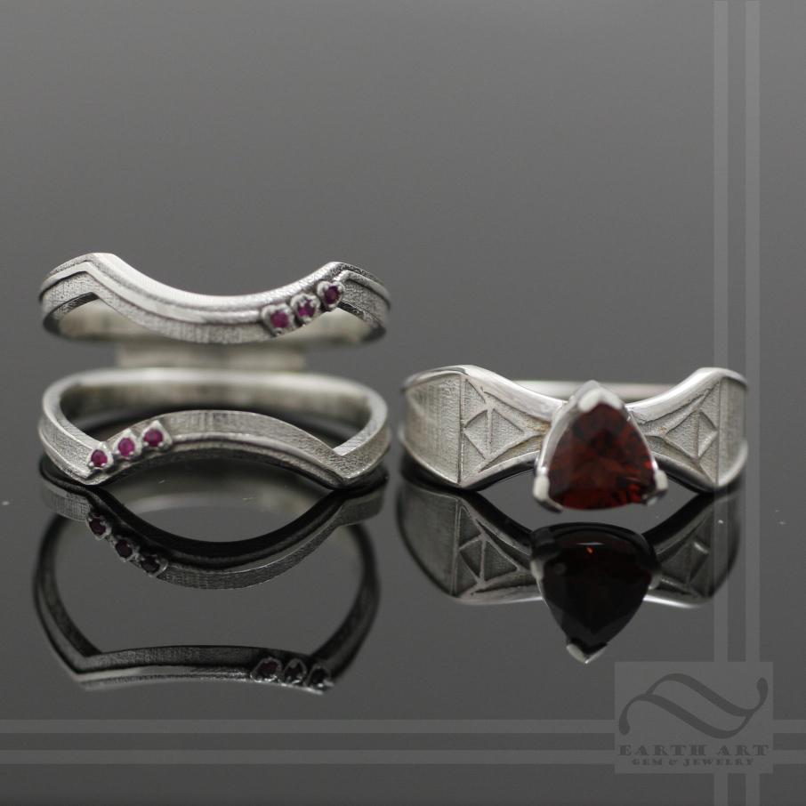 Interlocking Zelda ring Set by mooredesign13