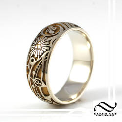New Mens Two tone Zelda Ring