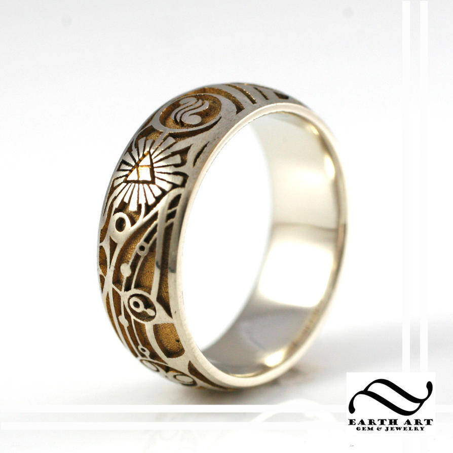 New Mens Two tone Zelda Ring by mooredesign13 on DeviantArt