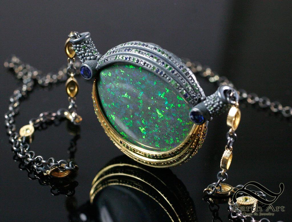 Andamooka Matrix Opal Pendant by mooredesign13