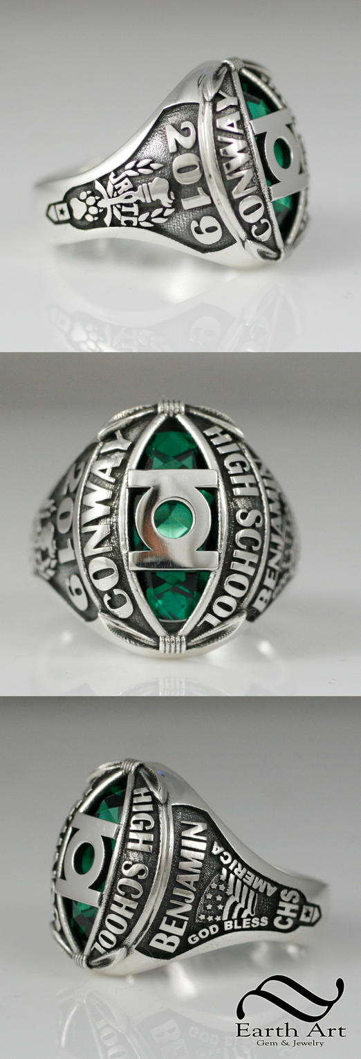 Green Lantern Class Ring by mooredesign13