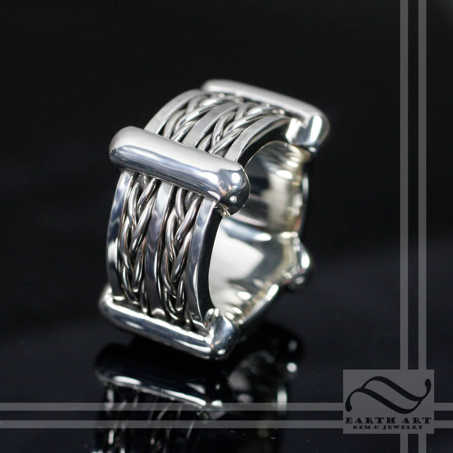 Double braid ring with tutorial