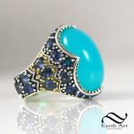Peruvian Blue Opal Cocktail ring!