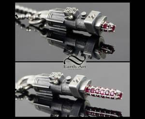 Tiny lightsaber pendant