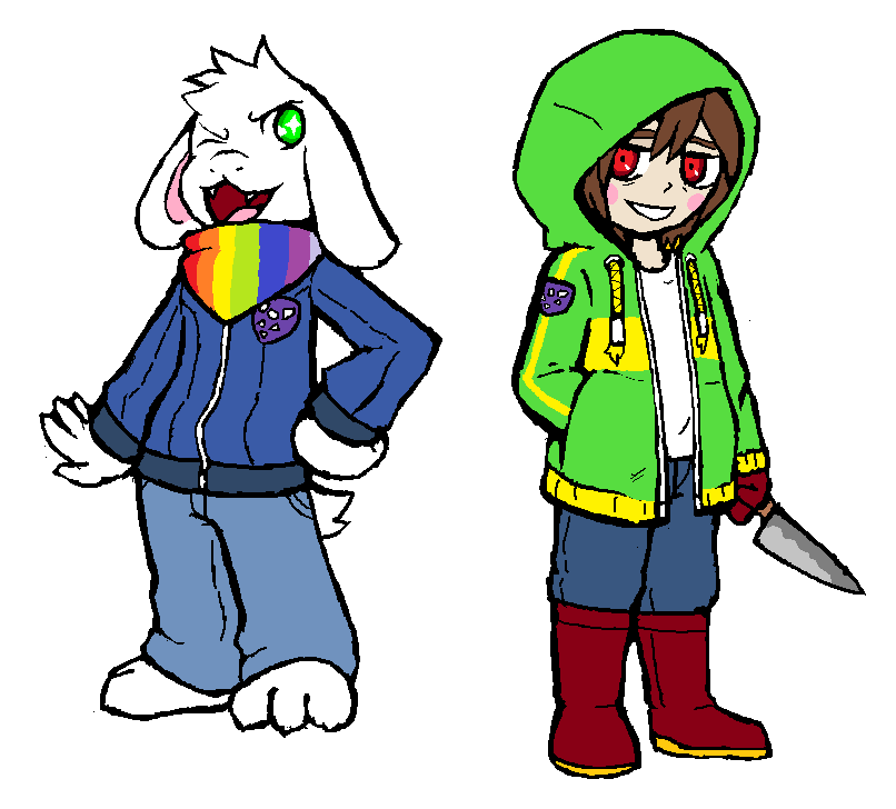 Storyshift Asriel And Chara By Karlwarrior47 On Deviantart