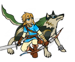 Breath of the Wild - Link and Wolf Link