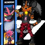 Incineroar [Torracat] x Flick! with a tiny Joltik