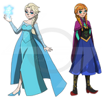 REQUEST: Elsa and Anna