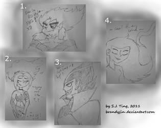 DP Doodles in Memo pad by Brandyjin