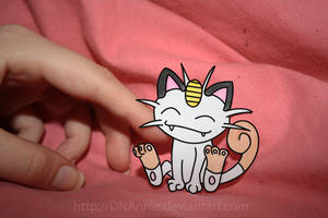 Papermon no.52 - Meowth by DNAnnie
