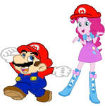 Mariopie pinkie hat mario