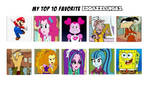 My top 10 favorite Eddazzling81 my page by Eddazzling81
