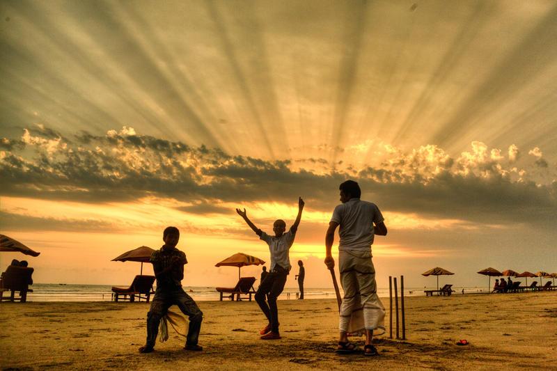 Beach cricket by ehabm