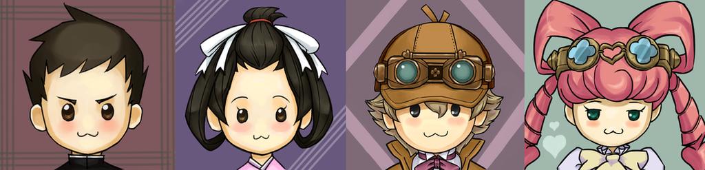 Dai Gyakuten Saiban Chibi icons by Chips13