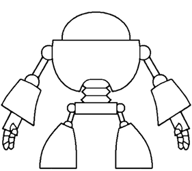TKO Robot line base vector by venjix5