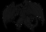 The Winged Dragon of Dark Ra (vector)