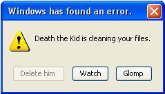 Death the Kid windows error by cheese2982003