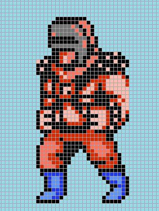 Visor Man Double Dragon Ii The Revenge Pixel Art By Pixelartnes