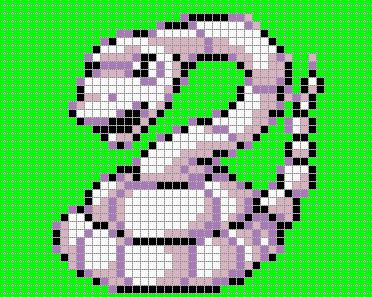 023 Ekans. Pokemon Red Pixel Art Templates by PixelArtNES on DeviantArt
