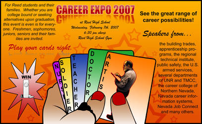 Career Expo Poster 2 - Cards by nikkilovesarman