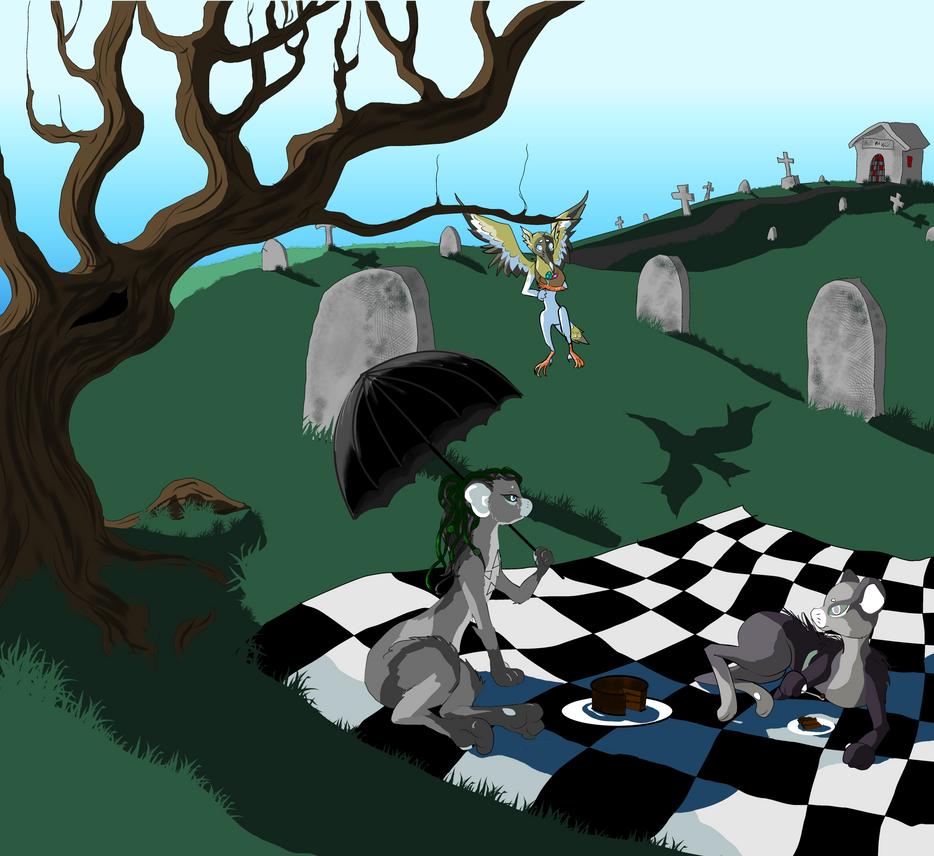 Cemetery Picnic by WintersKnight