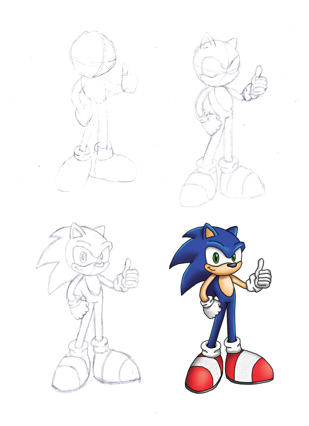 How To Draw Sonic The Hedgehog Step By Step By Jaukuwa On Deviantart