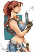 Lara Croft by Mike Debalfo by Blindman-CB