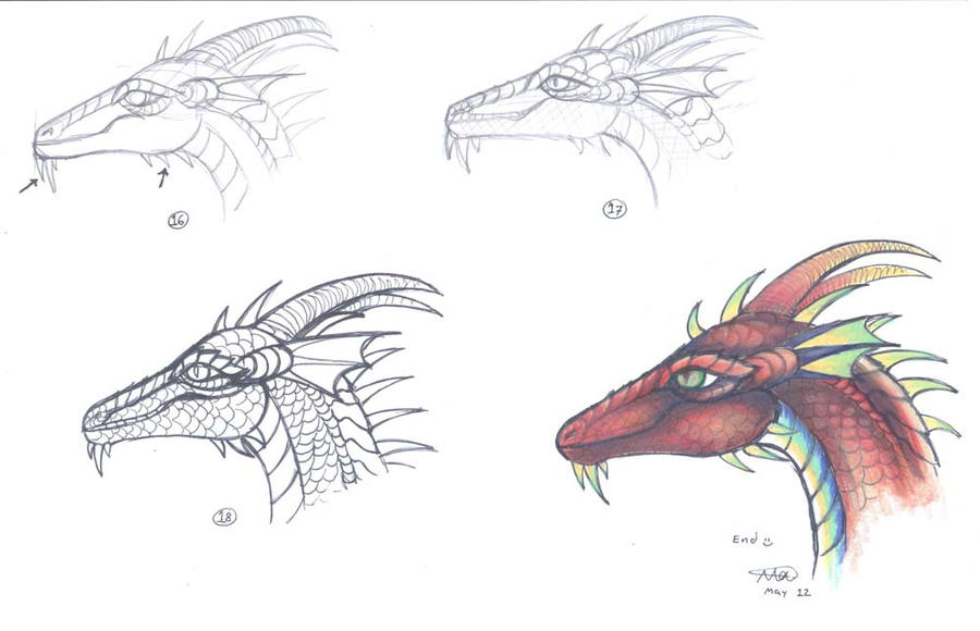Easy Dragon head tutorial 2 by who-stole-MY-name