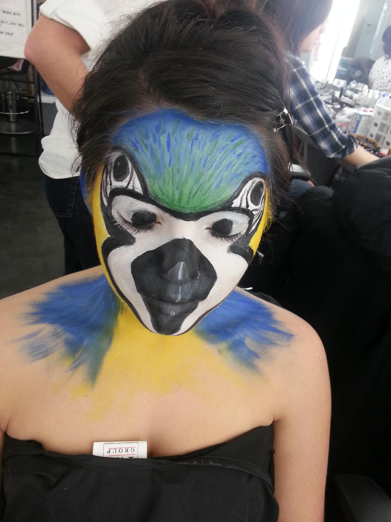 theatre makeup parrot face painting by xxparkin on deviantart