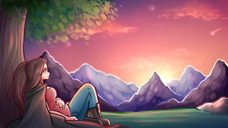 Sunset Rest by TheWittleSheep