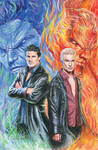 Angel and Spike from Buffy