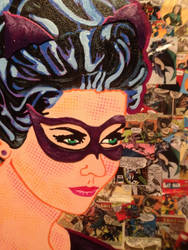 Detail of Catwoman by Callie West of WestStudio3