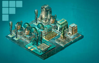 isometric Fantasy Set.placement test by CrankBot
