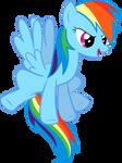 Rainbow dash is on it vector