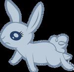 Sad rabbit vector
