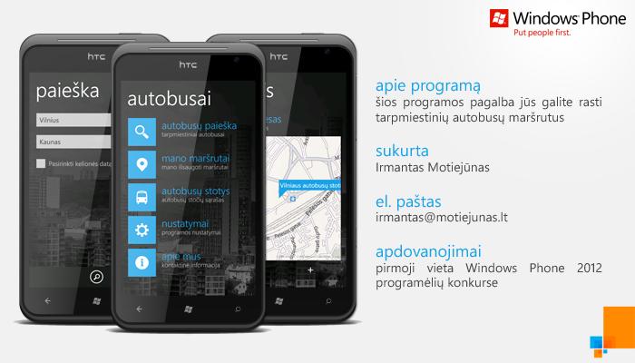 Windows Phone 7: Autobusai by irmantas-11