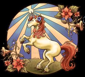 Arte Nouveau Unicorn