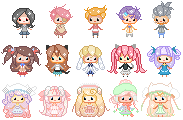 Mini Pixel Batch by elemental24