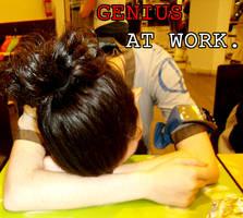 Genius at work by tumbleweedz